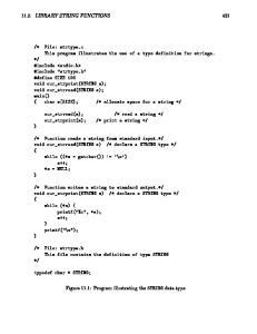 Figure 11.1: Program illustrating the STRING data type