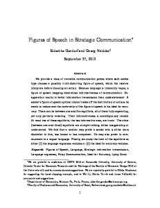 Figures of Speech in Strategic Communication