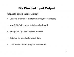File Directed Input Output