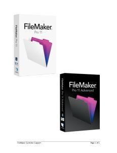 FileMaker Customer Support