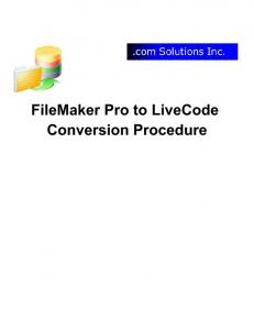 FileMaker Pro to LiveCode Conversion Procedure