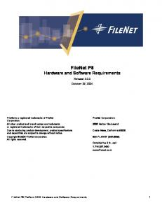 FileNet P8 Hardware and Software Requirements