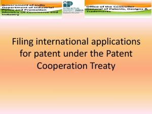 Filing international applications for patent under the Patent Cooperation Treaty