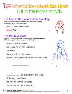 Fill in the Blanks Activity