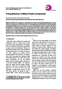Filling Behavior of Wood Plastic Composites