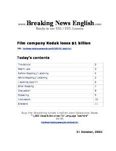 Film company Kodak loses $1 billion