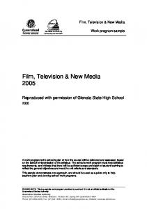 Film, Television & New Media 2005