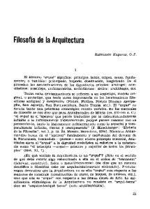 Filosofía de la Arquitectura