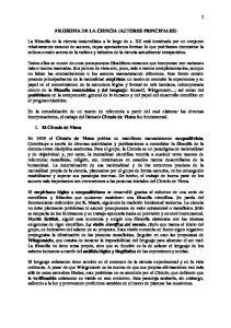 FILOSOFIA DE LA CIENCIA (AUTORES PRINCIPALES)