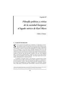 Filosofía política y crítica de la sociedad burguesa: el legado teórico de Karl Marx