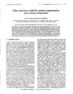 Filter selection model for motion segmentation and velocity integration