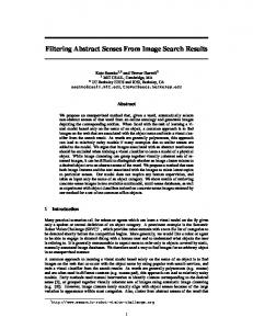 Filtering Abstract Senses From Image Search Results