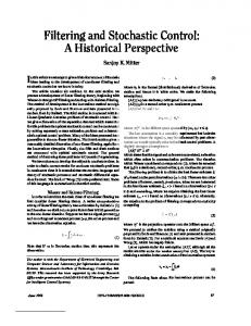 Filtering and Stochastic Control: A Historical Perspective