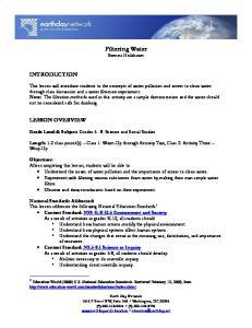 Filtering Water Brenna Holzhauer