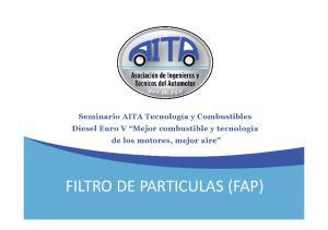 FILTRO DE PARTICULAS (FAP)