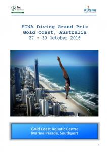 FINA Diving Grand Prix Gold Coast, Australia October 2016