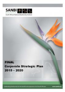 FINAL Corporate Strategic Plan