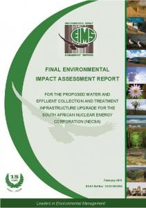 FINAL ENVIRONMENTAL IMPACT ASSESSMENT REPORT