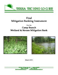Final Mitigation Banking Instrument. For the Camp Branch Wetland & Stream Mitigation Bank. March 2011