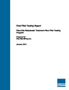 Final Pilot Testing Report