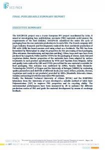 FINAL PUBLISHABLE SUMMARY REPORT EXECUTIVE SUMMARY