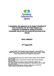 FINAL REPORT. 31 st August 2010