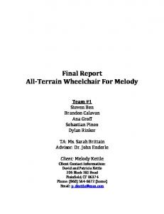 Final Report All-Terrain Wheelchair For Melody