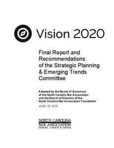 Final Report and Recommendations of the Strategic Planning & Emerging Trends Committee
