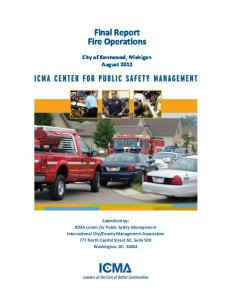 Final Report Fire Operations