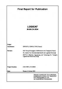 Final Report for Publication LOGICAT