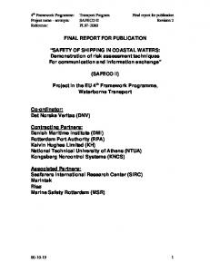 FINAL REPORT FOR PUBLICATION