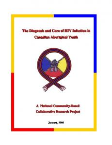 Final Report. HIV Testing and Care in Aboriginal Youth