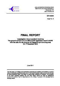 FINAL REPORT. June 2011