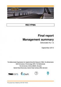 Final report Management summary