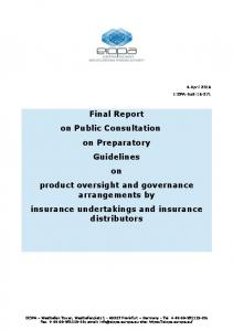 Final Report on Public Consultation on Preparatory Guidelines