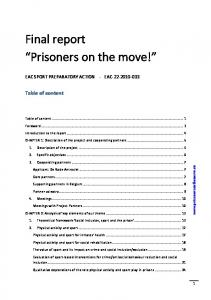Final report Prisoners on the move!