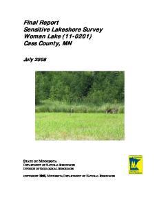 Final Report Sensitive Lakeshore Survey Woman Lake ( ) Cass County, MN