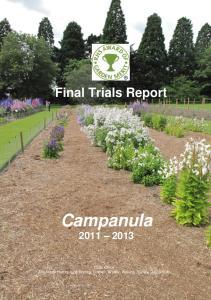 Final Trials Report Campanula