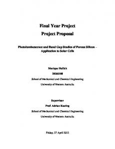 Final Year Project Project Proposal