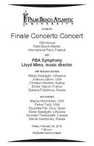 Finale Concerto Concert