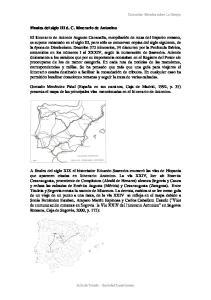 Finales del siglo III d. C. Itinerario de Antonino