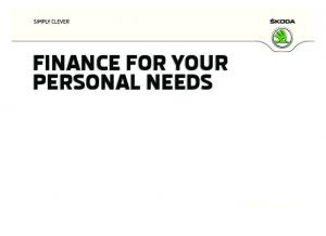 FINANCE FOR YOUR PERSONAL NEEDS