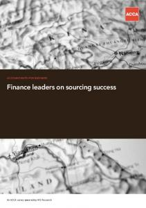 Finance leaders on sourcing success