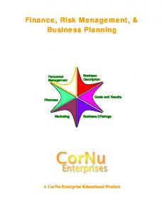 Finance, Risk Management, & Business Planning