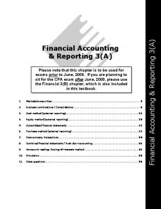 Financial Accounting & Reporting 3(A)