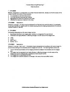 Financial Accounting & Reporting 7 Class Questions