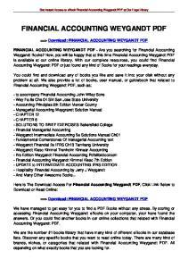 FINANCIAL ACCOUNTING WEYGANDT PDF