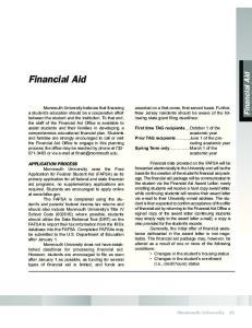 Financial Aid. Financial Aid. Course Descriptions