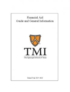 Financial Aid Guide and General Information