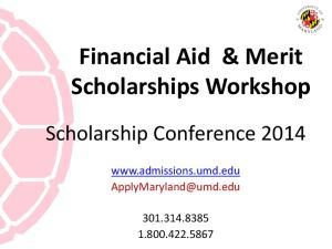Financial Aid & Merit Scholarships Workshop